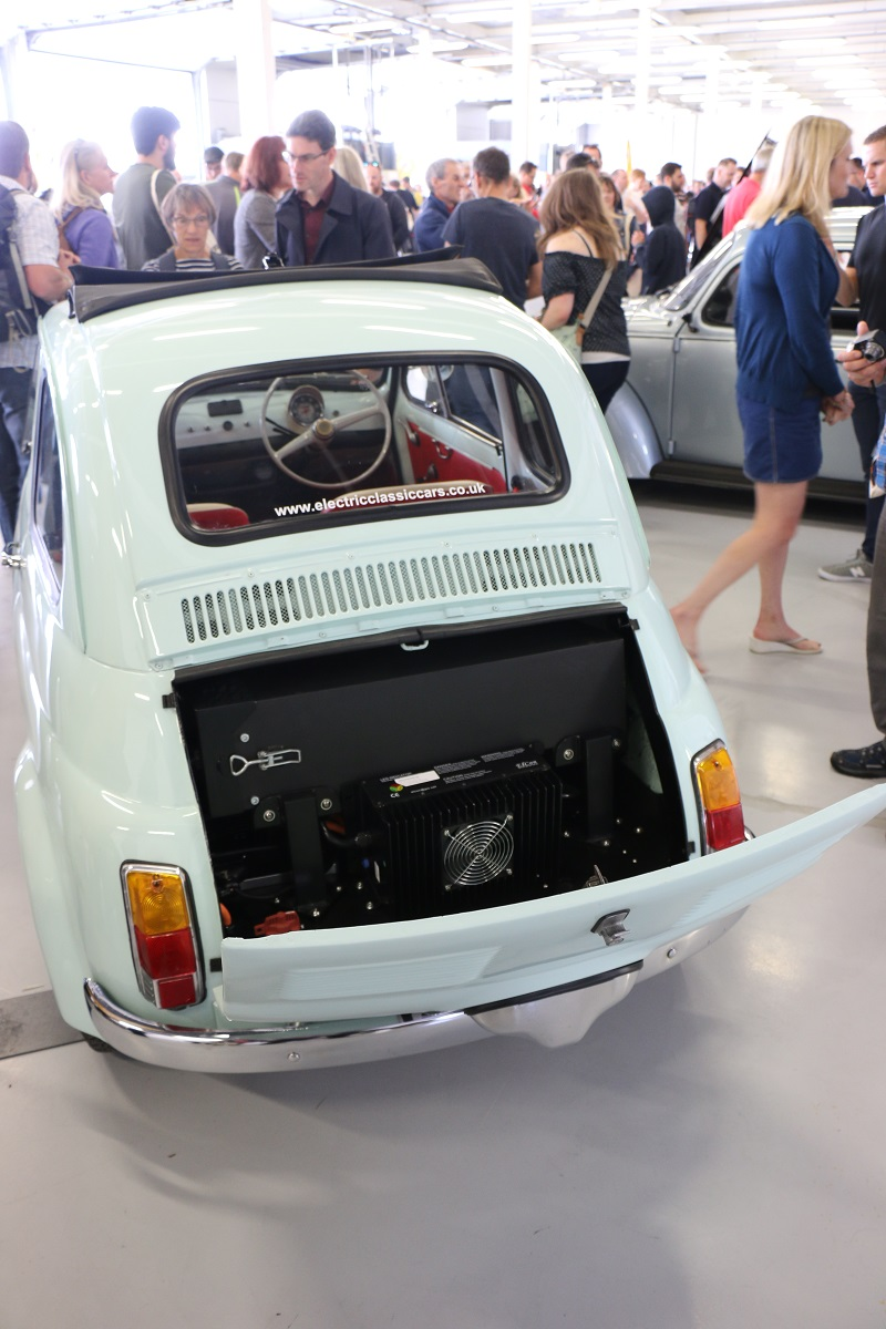 Fiat 500 electric conversion rear