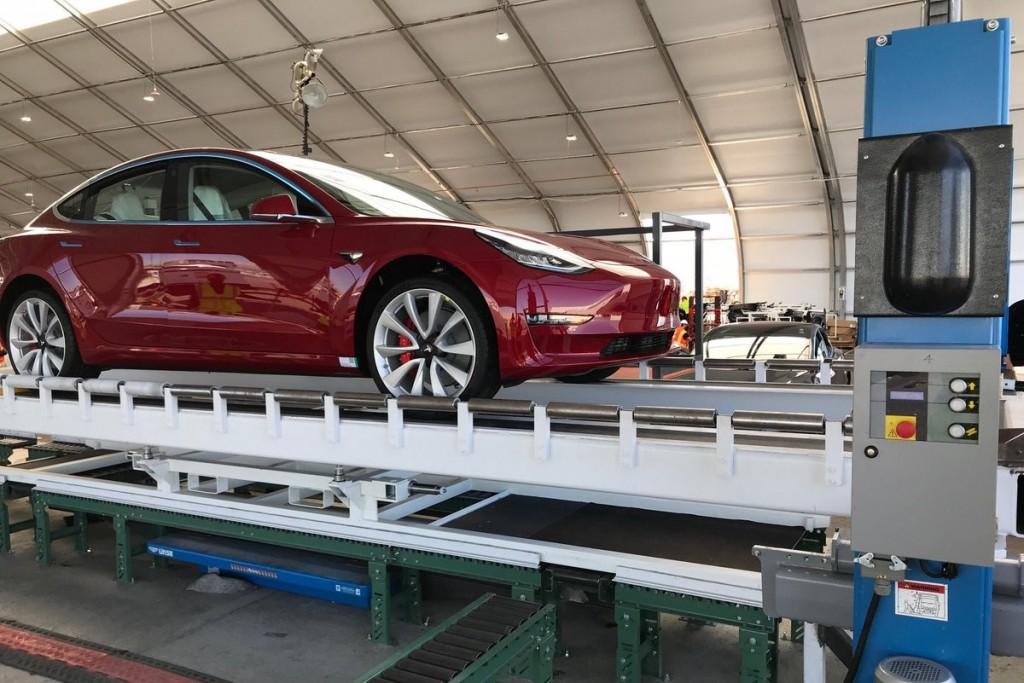 Tesla Model 3 Performance on assembly line